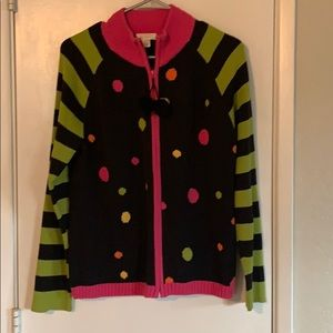 Christopher and Banks sweater sz XL polka dots